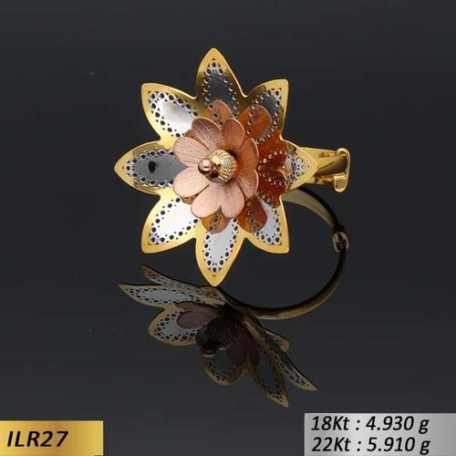 Flower Type Italian Gold Ring