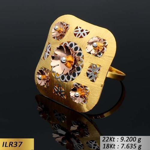 Square Enhance Gold Ring