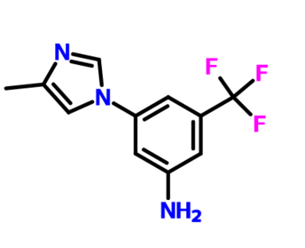 3-(4-Methyl-1H-imidazol-1-yl)-5-(trifluoromethyl)aniline CAS 641571-11-1