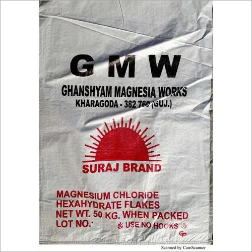 Magnesium Chloride HexaHydrate Flakes Jumbo Bag Packing