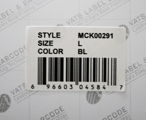 Paper Barcode Sticker