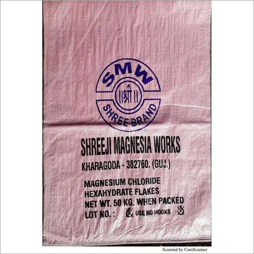 Magnesium Chloride HexaHydrate Flakes 50 kgs bag packing