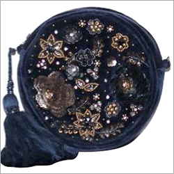 Embellished Round Clutch Bag