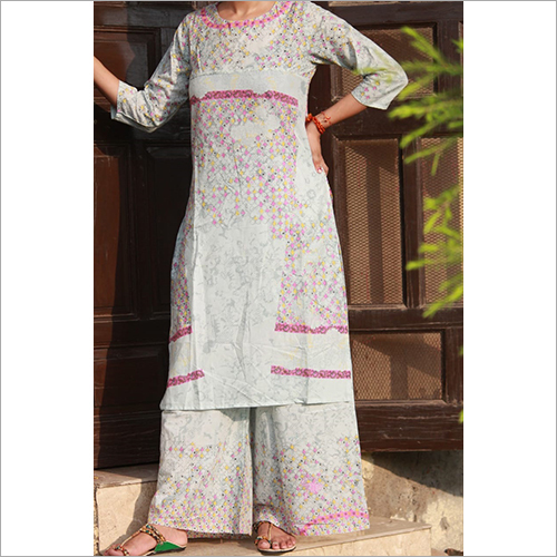 Ladies Kurtis With Palazzo Set