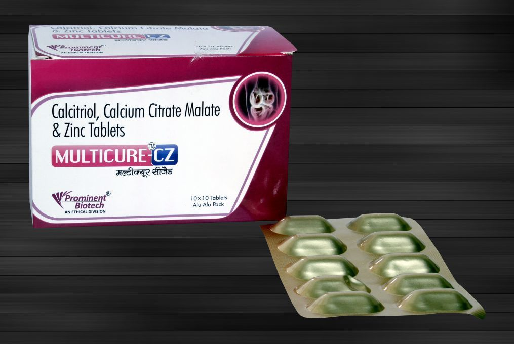Cal.Citrate Malate 1000 Mg(Eq To Elem. Calcium 250 Mg) ,Calcitriol 0.25 Mcg,& Zinc 7.5 Mg Tablets