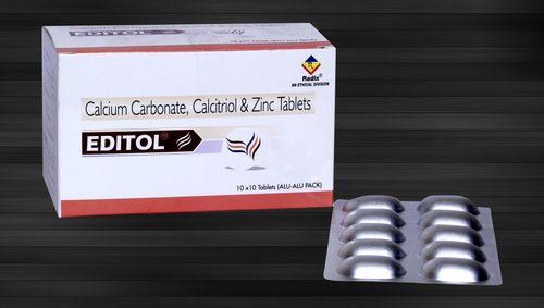Calcium Carbonate 500 mg, Calcitriol 0.25 mcg & Zinc 7.5 mg