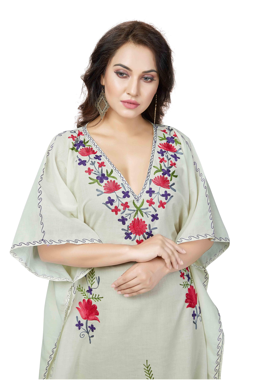 Evening wear cotton farasha kaftan