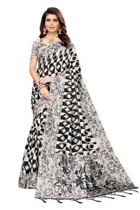 Classic Banarasi Art Silk Saree with Jhalar (tessals)