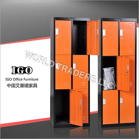 3 Tier 6 Doors Steel Locker