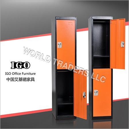 2 Tier 2 door metal locker