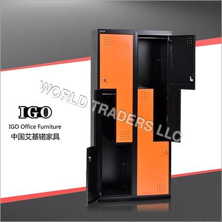 Z Shape Steel Wardrobe with 4 Doors