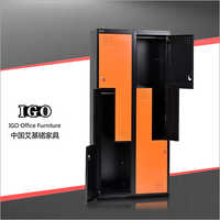 Z Shape Steel Wardrobe with 4 Doors