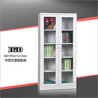 Glass Door File Cabinet