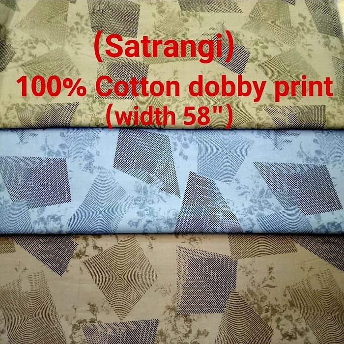 SATRANGI 100% cotton dobby print
