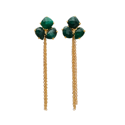 Dyed Emerald Gemstone earrings