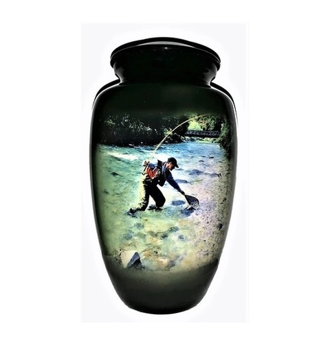THEMED FISHING CREMATION URN-NEW