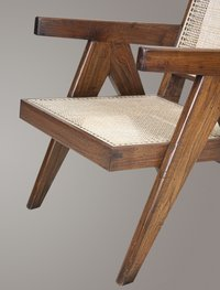 Pierre Jeanneret Teakwood Antique Aged Easy Chair