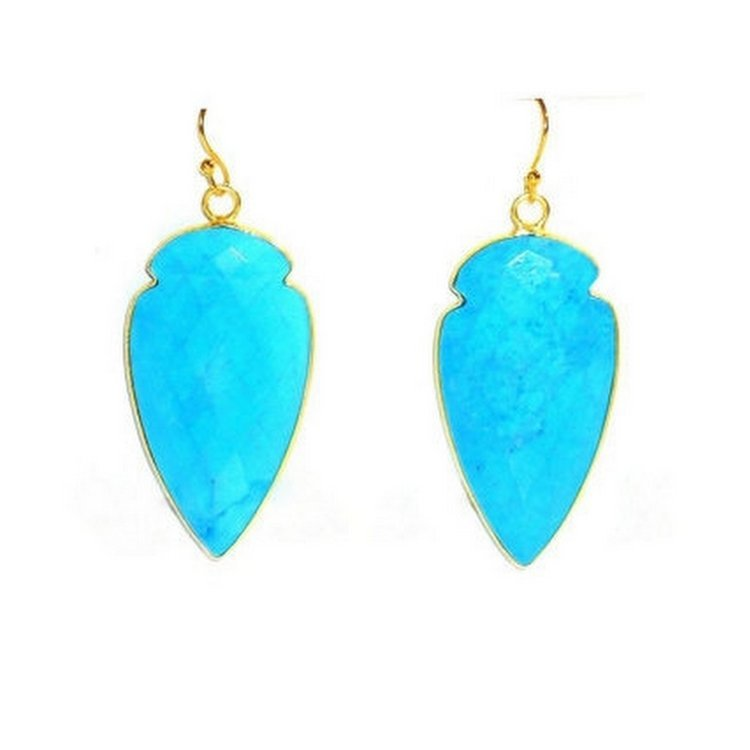 Fuchsia Chalcedony Gemstone Earrings