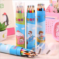 12 Pcs Color Pencils with Container (Random)