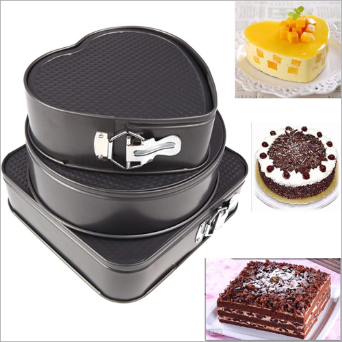 3 Pcs Cake Mould Heart, Square & Round