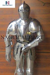 NAUTICALMART Italian Full Suit of Armor Medieval Knight Closed Helmet Costume with Sword