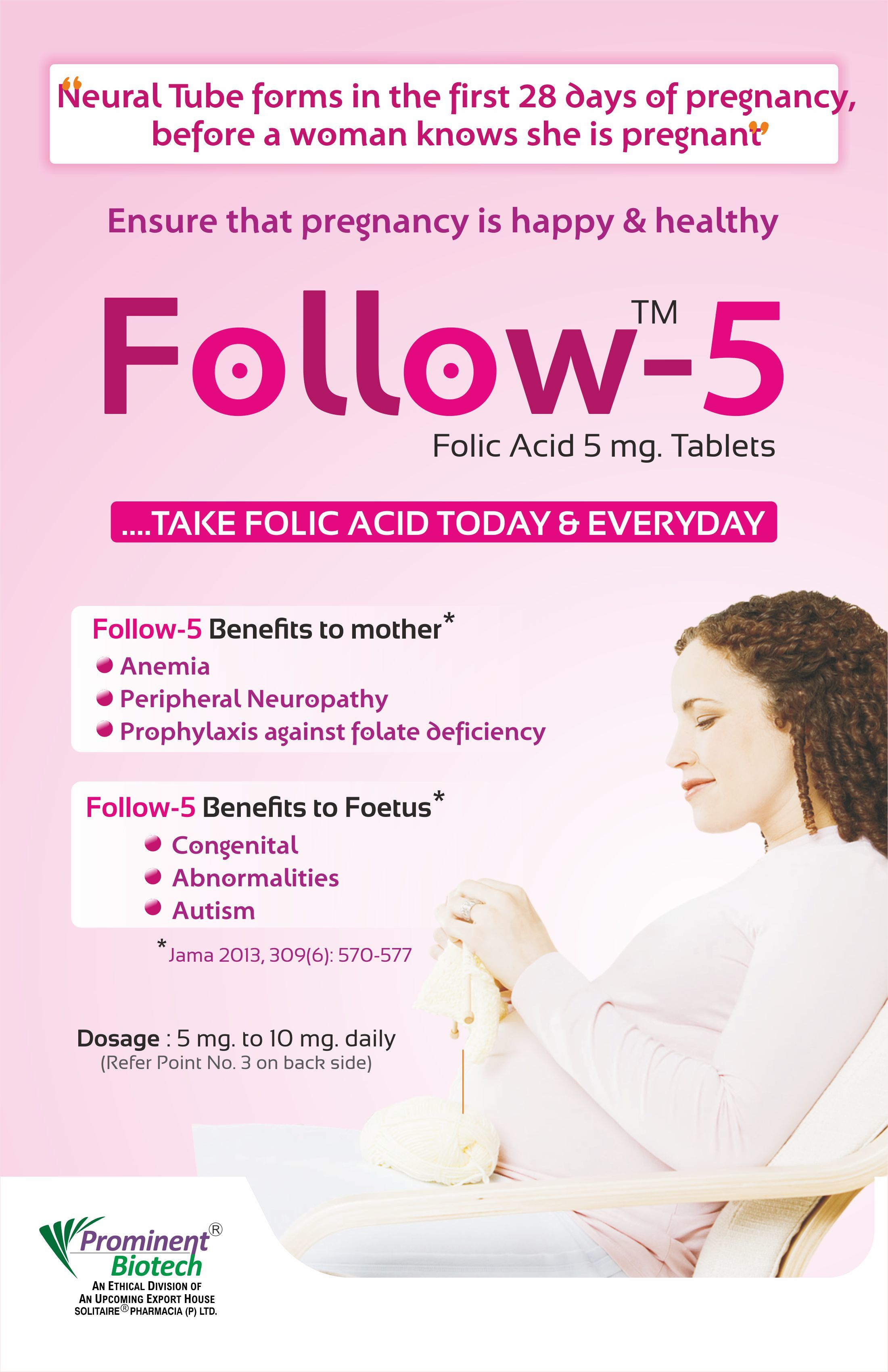 Folic Acid 5 Mg Tablets