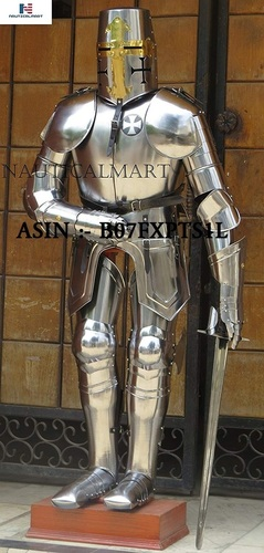 NAUTICALMART Crusader Knight Templar Suit of Armor Custom Halloween Costume Armour Sword