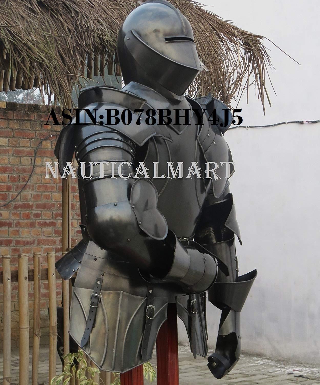 NauticalMart Medieval Suit of Armor Renaissance Italian Steel Half Armor Halloween