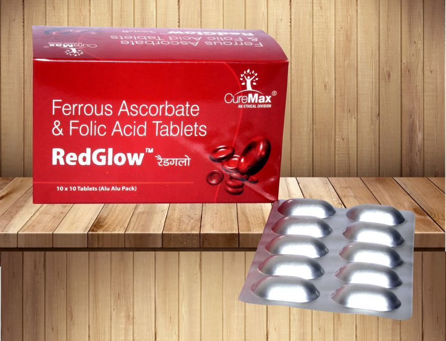 Ferrous Ascorbate 100 mg & Folic Acid 1.5 mg Tablet