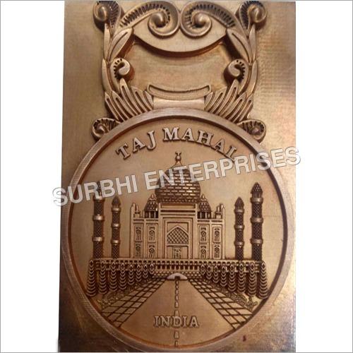 Copper Electrode Of Taj Mahal Key Ring
