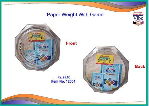 Paper Weight With Game