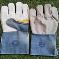Leather Jeans Fabric Hand Gloves