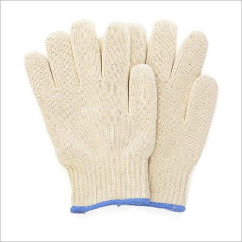 Cotton Knitted Seamless White Hand Gloves