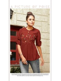 Rayon Embroidery Wholesale Top