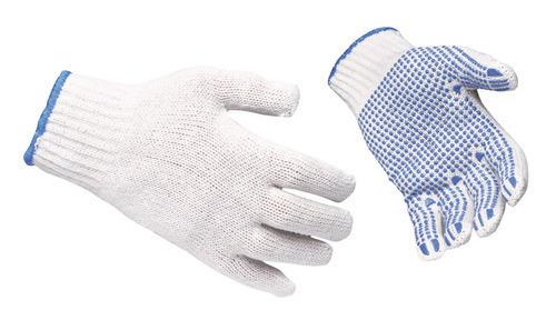 polka dotted gloves