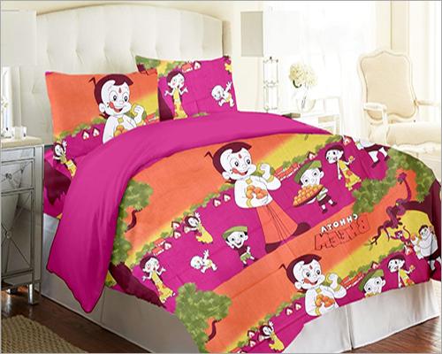 Cotton Cartoon Bed Sheet