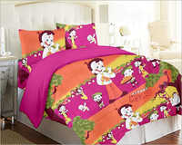 Cotton Cartoon Bed Sheet