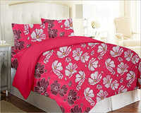 Cotton Flower Printed Double Bedsheet
