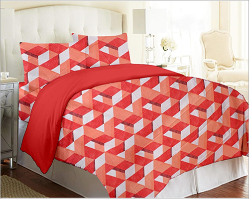 Red Cotton Bed Sheet