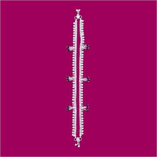 Khusbhu Stone Toran Crystal Anklet