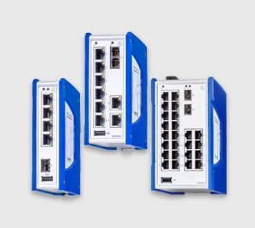 HIRSCHMANN SPIDER Unmanaged DIN Rail Fast/Gigabit Ethernet Switches