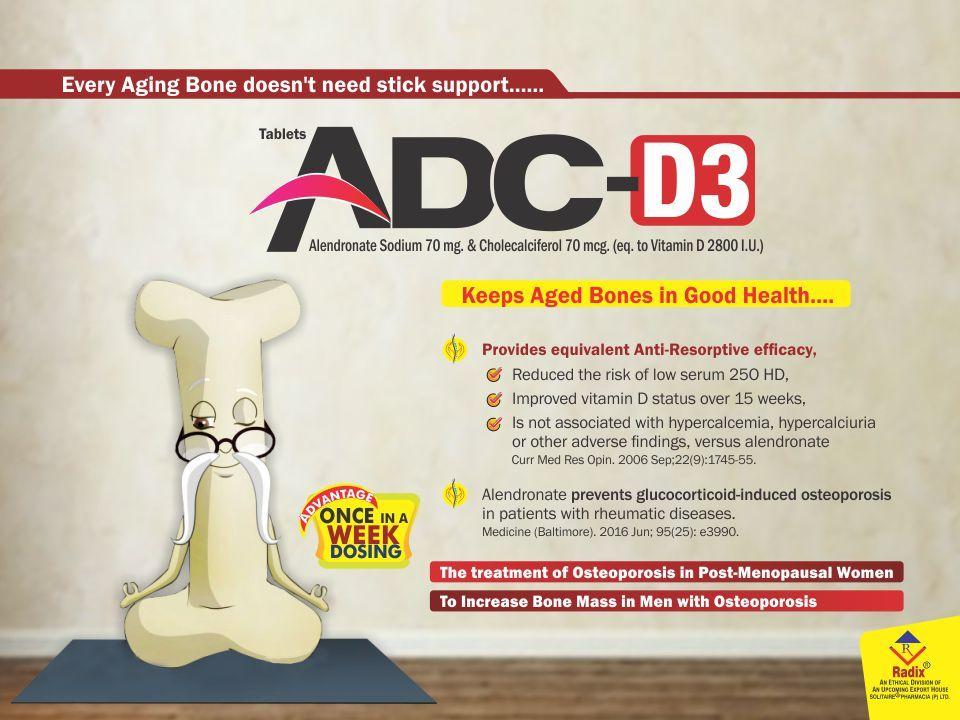 Alendronic Acid 70 mg & Cholecalciferol 70 mcg Tablet