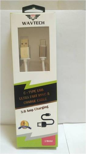 C Type USB Ultra Fast & Sync Charge Cable