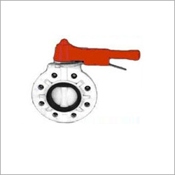 PVDF Flange End Butterfly Valve
