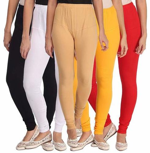4-Way V Cut Cotton Lycra Churidar Leggings -170 GSM 36 Thread Count