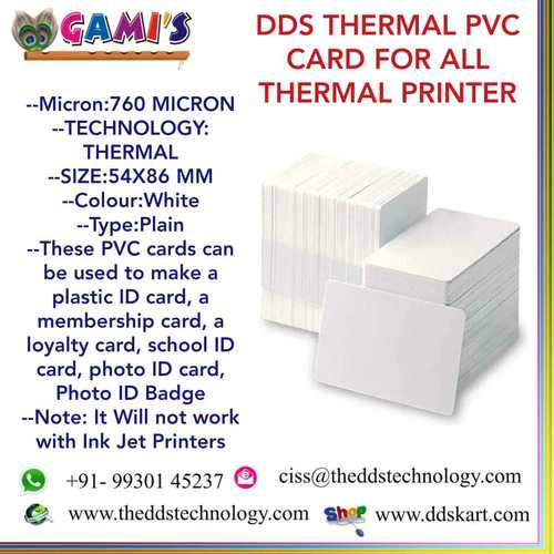 Thermal Pvc Card Suppliers