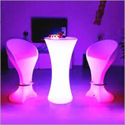LED Bar Chair Table