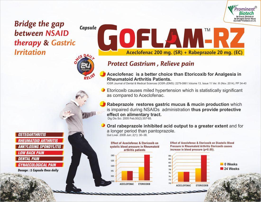 Aceclofenac 200 mg & Rabeprazole 20 mg Capsule