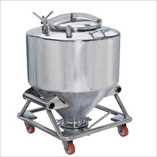 Silver Stainless Steel Ipc Container