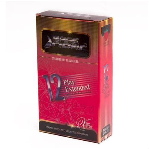 Strawberry Flavoured Premium Dotted Condom